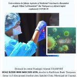 USAMVB adună fonduri pentru lupta cu coronavirusul