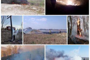 Pompierii trag un semnal de alarmă după ce au stins 31 de incendii de vegetație uscată în weekend