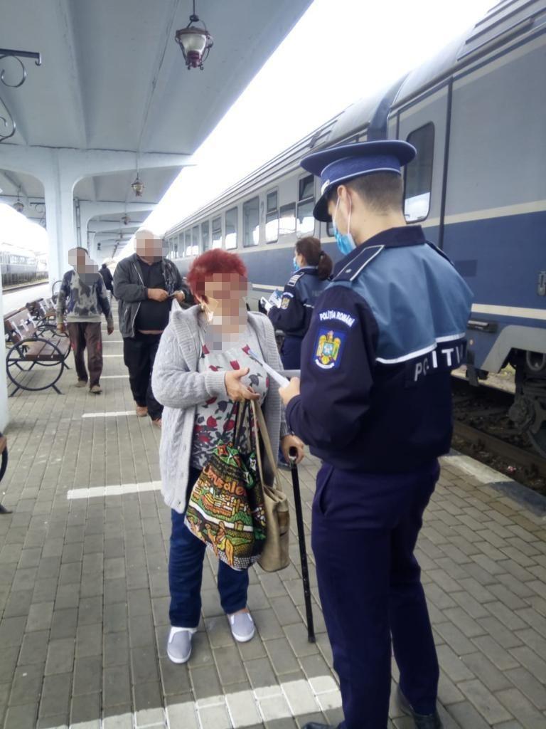 Gările și trenurile, verificate de polițiști