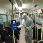STPT continuă să dezinfecteze mijloacele de transport în comun