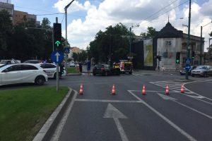 Accident rutier în centrul Timişoarei