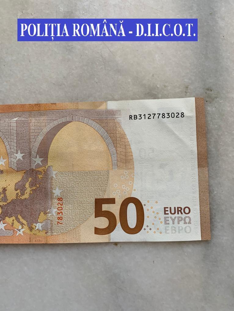 Mascaţii au descins la mai multe persoane care au pus în circulaţie bancnote false de 50 de euro