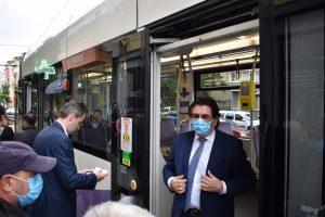 A fost inaugurat noul segment de linie de tramvai care face legătura cu Shopping City Timișoara