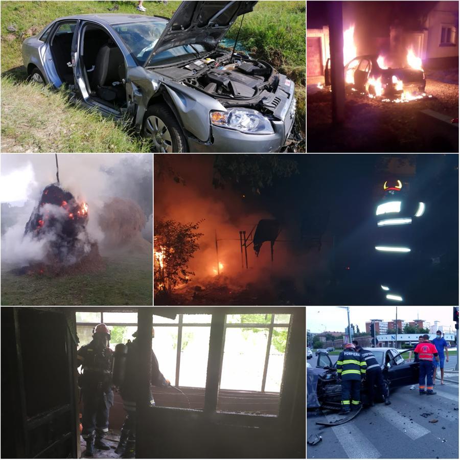 Mini-vacanţă de Rusalii grea pentru pompierii din Timiş. Au avut aproape 200 de intervenţii