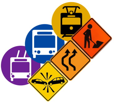 Autobuzele de pe o linie expres circulă deviat