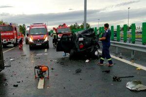 Accident rutier in apropiere de Vama Nadlac