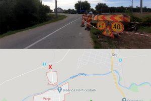 Drumul care duce la Parţa, închis temporar. CJ Timiş montează un podeţ transversal