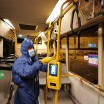Foto. STPT continuă dezinfectarea mijloacelor de transport în comun