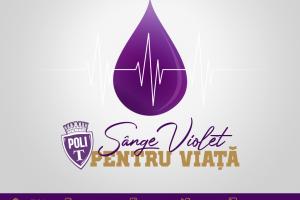"""""""Sânge violet pentru viață!"""" Donatorii primesc 20% reducere în magazinul oficial Poli"""