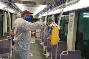 Mijloacele de transport în comun, igienizate şi dezinfectate
