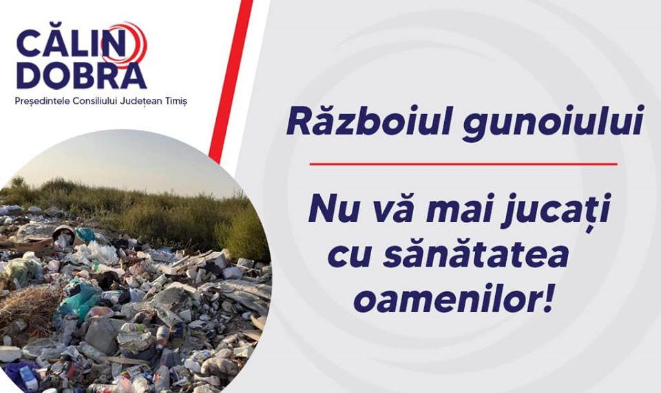Apelul lui Dobra în războiul gunoiului: Nu vă mai jucați cu sănătatea oamenilor!