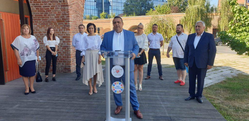 Candidatul Pro România la Primăria Timișoara și-a prezentat astăzi echipa de consilieri locali