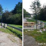Cum arată parcarea unui drum naţional înainte şi după weekend