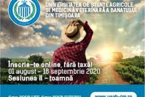 Înscrierile online continuă pentru Sesiunea II din toamnă pe toată perioada verii la USAMVB