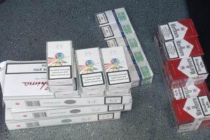 Jandarmii au confiscat aproape 250 de pachete de ţigări de  contrabandă