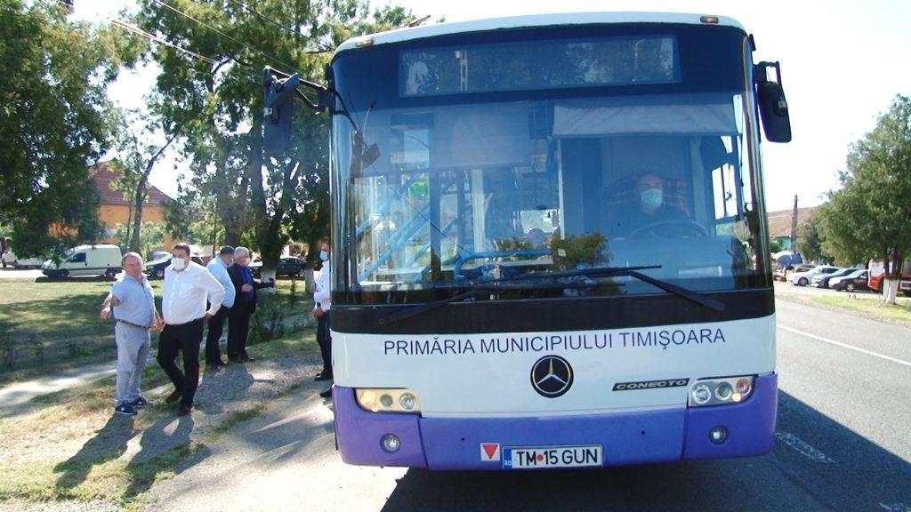 De luni va fi introdus transportul metropolitan în comuna Șandra
