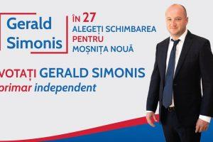 Mesajul lui Gerald Simonis, candidat independent la Primăria Moșnița Nouă, pentru alegători