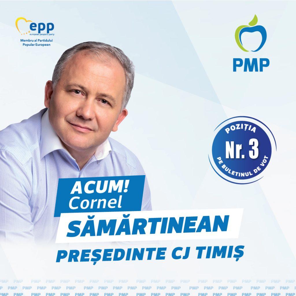 Scrisoarea către timişeni a deputatului Cornel Sămărtinean, candidatul PMP la preşedinţia CJT