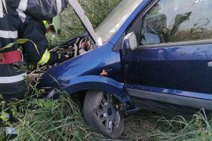 Accident la coborârea de pe autostrada A1