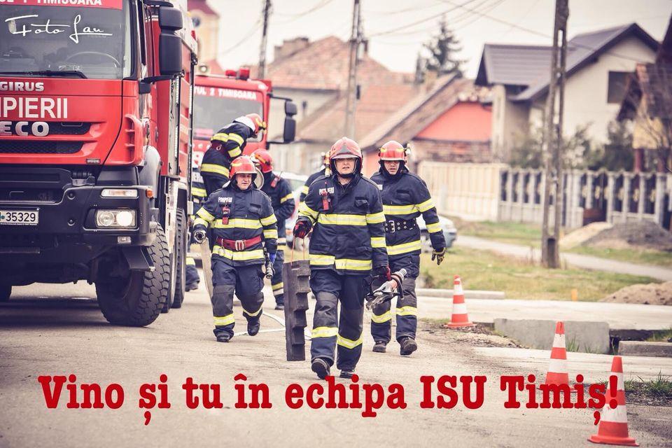 Pompierii de la ISU Timiş caută temporar colegi