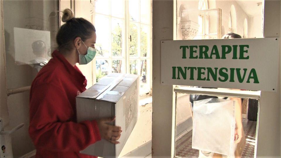 Donație din partea Crucea Roșie pentru bolnavii de coronavirus