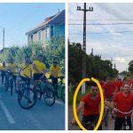 Candidatul PNL la Primăria Șag, pedalând între partide