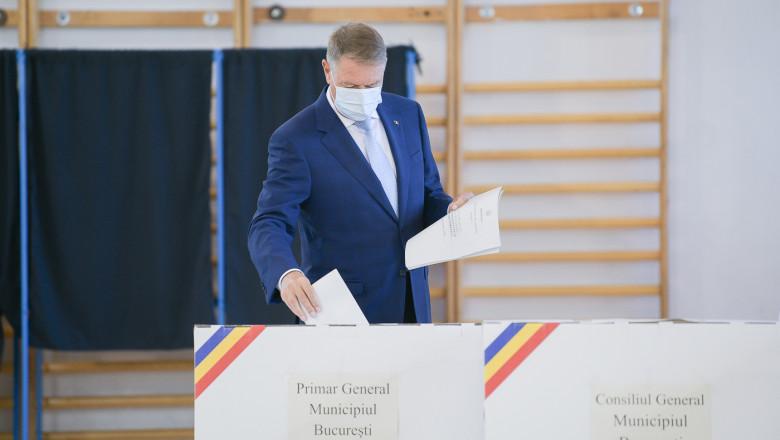 Președintele Klaus Iohannis a votat: Să nu lăsăm pe alții să decidă în locul nostru, mergeți la vot!