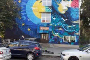 Pictura de pe fațada Liceului Moisil, apreciată de Robu