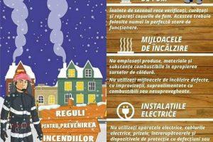 Măsuri de prevenire a incendiilor în sezonul rece. Ce ne sfătuiesc pompierii