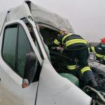 Accident pe autostrada A1, în Timiș. A intervenit descarcerarea