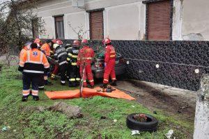 Accident la Jabăr. O gravidă a fost dusă la spital cu elicopterul SMURD