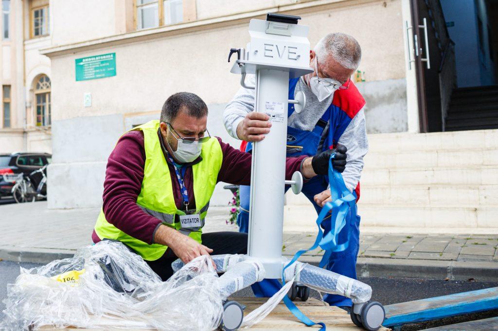 Donație de aparate de ventilație mecanică pentru Spitalul Victor Babeș Timișoara