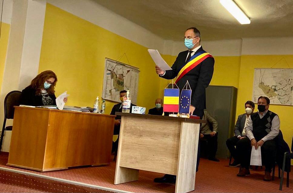 Învestirea în funcţie a primarului orașului Buziaş, Sorin Munteanu și constituirea Consiliului Local