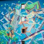 """Pictura murală """"Fortificații"""" din Complexul Studențesc a fost modificată de artist"""