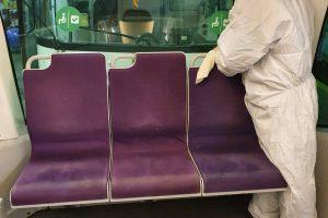 STPT continuă să dezinfecteze mijloacele de transport în comun. Foto