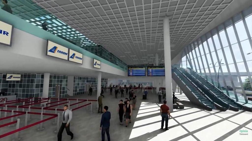 Terminal de 12.000 mp, un sistem complet de control de securitate pentru pasageri și bagaje, 7 lifturi de persoane și bagaje, 18 ghișee check-in