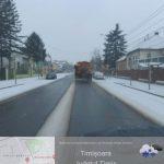 Unsprezece utilaje de deszăpezire acționează pe străzile din Timișoara