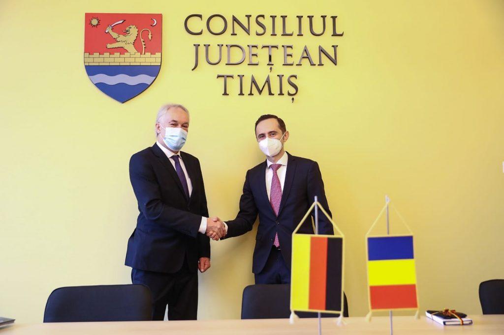Liderul CJT și consulul Germaniei la Timișoara au stabilit trei obiective după prima întâlnire oficială