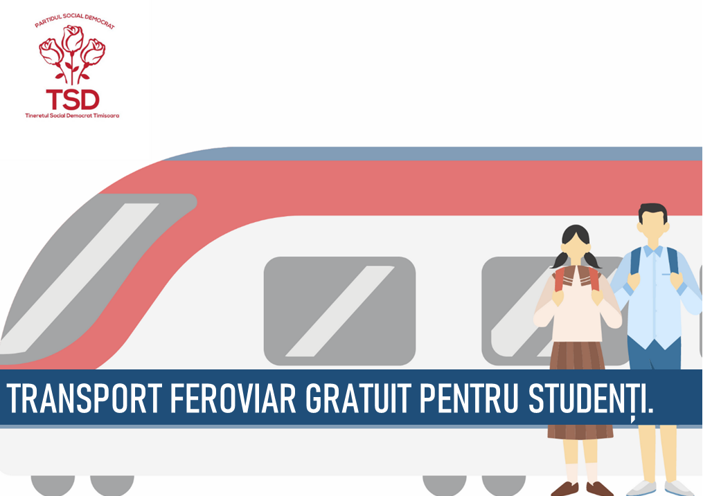 """TSD Timișoara: """"Solicităm Guvernului să revină asupra deciziei și să nu promoveze o Românie fără transport gratuit pentru studenți!"""""""