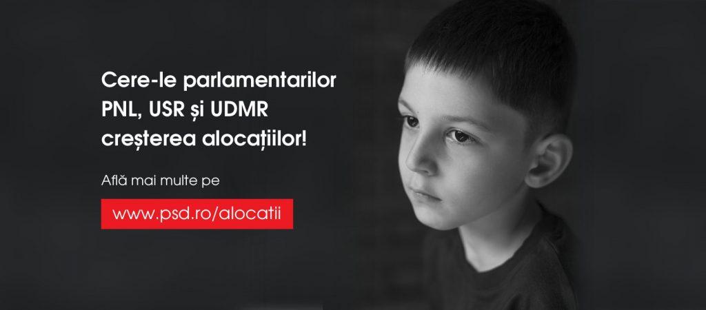 PSD lansează o campanie online prin care orice român poate cere parlamentarilor să susțină creșterea alocațiilor