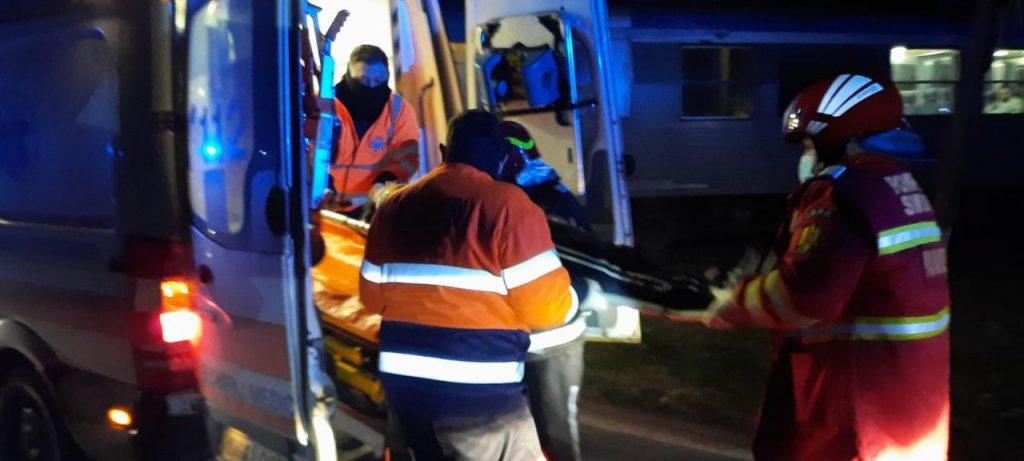 Accident feroviar la Dudeștii Noi
