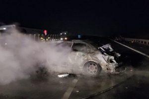 Accident rutier pe A1! Doua persoane au murit