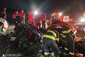 Accident rutier soldat cu 2 victime, la ieșirea din Lugoj spre Caransebeș