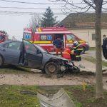 Accident cu doi răniți la Sânnicolau Mare