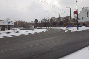 S-a acționat cu 9 utilaje pentru deszăpezire pe principalele străzi din Timișoara