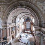 Stadiul lucrărilor de reabilitare a clădirii Catedralei Romano-Catolice din Timişoara/FOTO