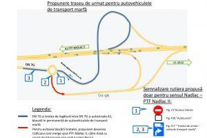 Acces interzis vehicule de transport marfă pe DN 7G, județul Arad