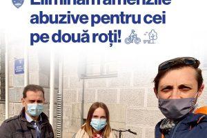 """USR Timiș: """"Eliminăm amenzile abuzive pentru cei care circulă pe două roți prin centrul Timișoarei"""""""