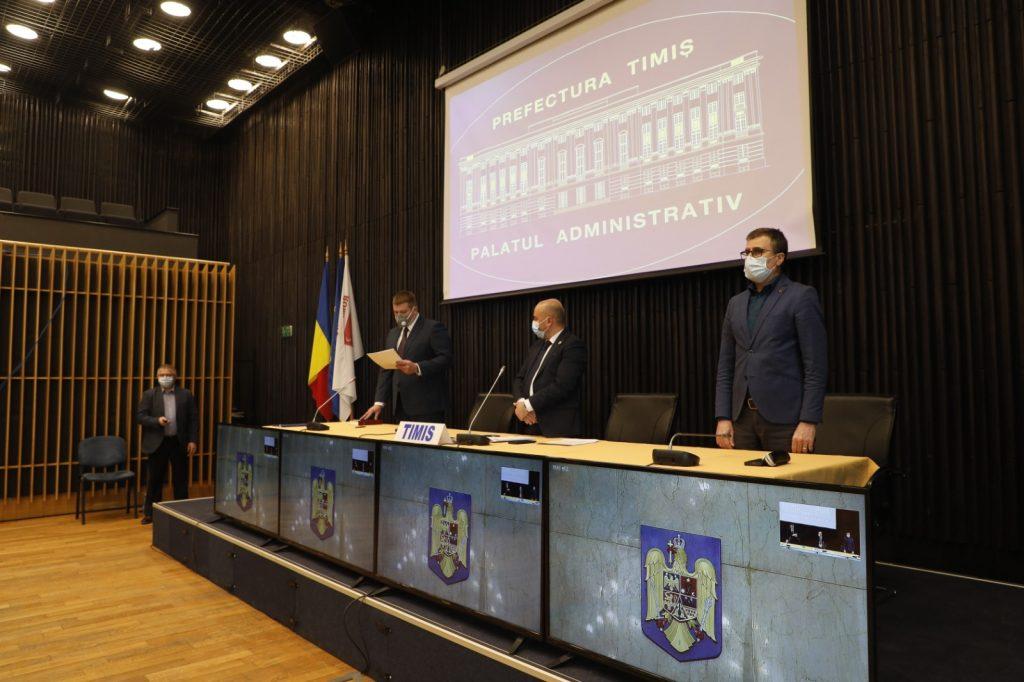 Prefectul și subprefectul județului Timiș, învestiți în funcție