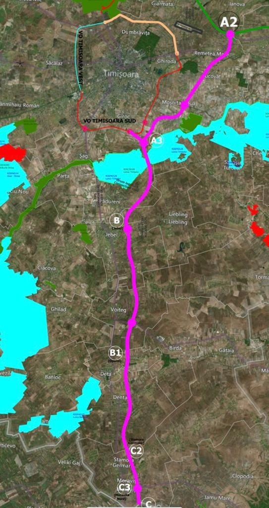 Ministrul Transporturilor a anunțat traseul final pentru A9 Timișoara- Moravița
